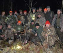 Охота на лося в Тверской области.