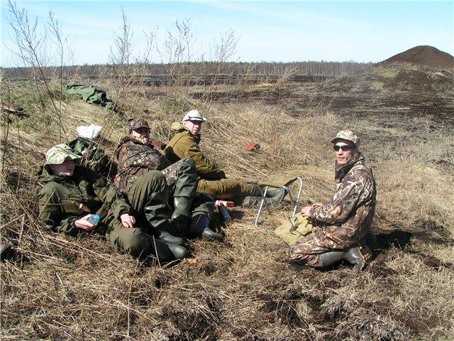 Весной на охоту....
